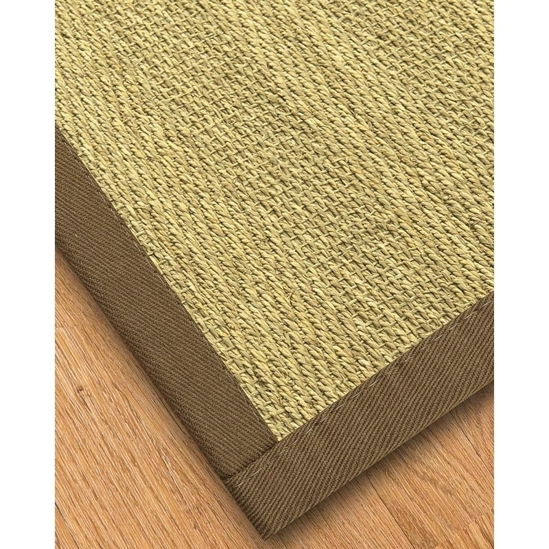 Natural Area Rugs Handcrafted Formosa Natural Seagrass Rug - Taupe Binding, (3' x 5')