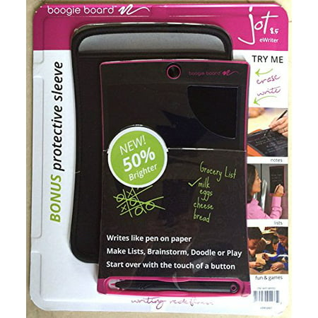 Fabulous Boogie Board Jot 8 5 Lcd Ewriter Pink Writing Tablet Neoprene Sleeve Stylus Download Free Architecture Designs Jebrpmadebymaigaardcom