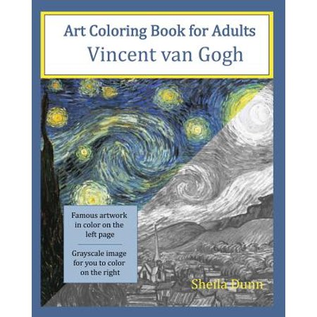Art Coloring Book For Adults Vincent Van Gogh