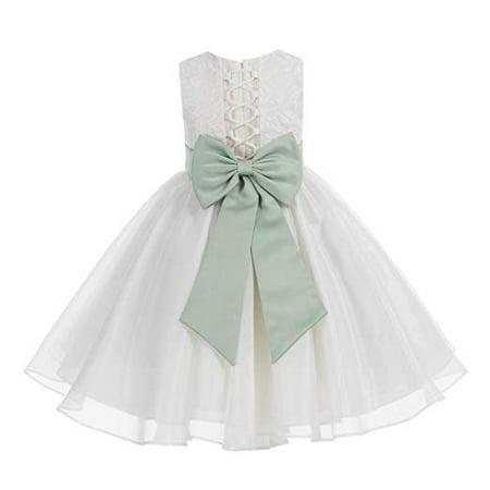 1c7e9d8dc995 Ekidsbridal - Ekidsbridal Ivory Lace Organza Flower Girl Dress ...