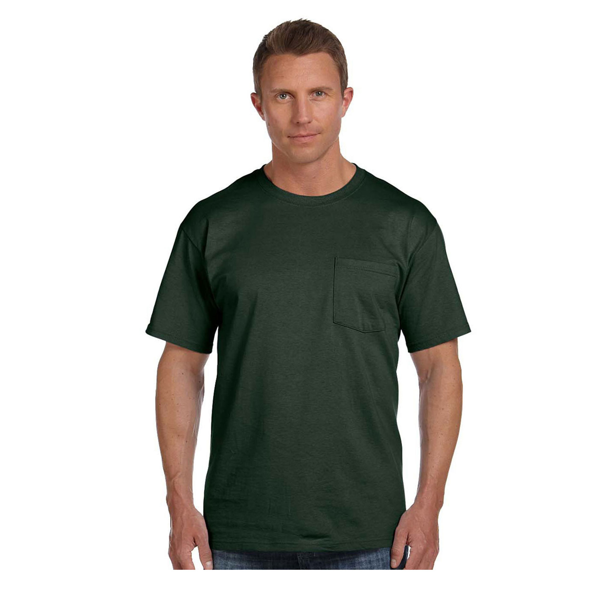 Fruit of the Loom Men's Tight Woven Cotton Pocket T-Shirt, Style 3930P