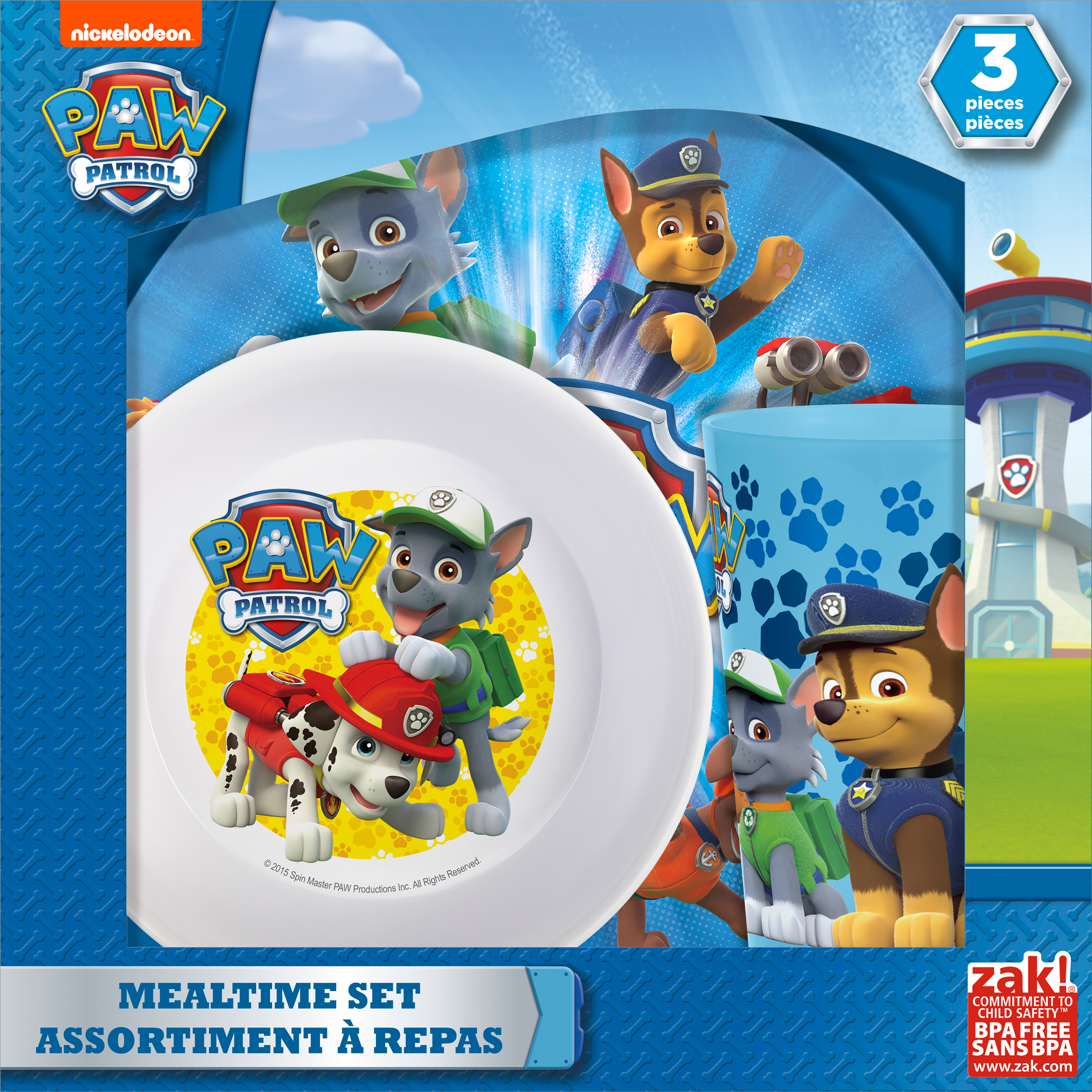 Paw Patrol 3-piece Kids Dinnerware Set by Zak!