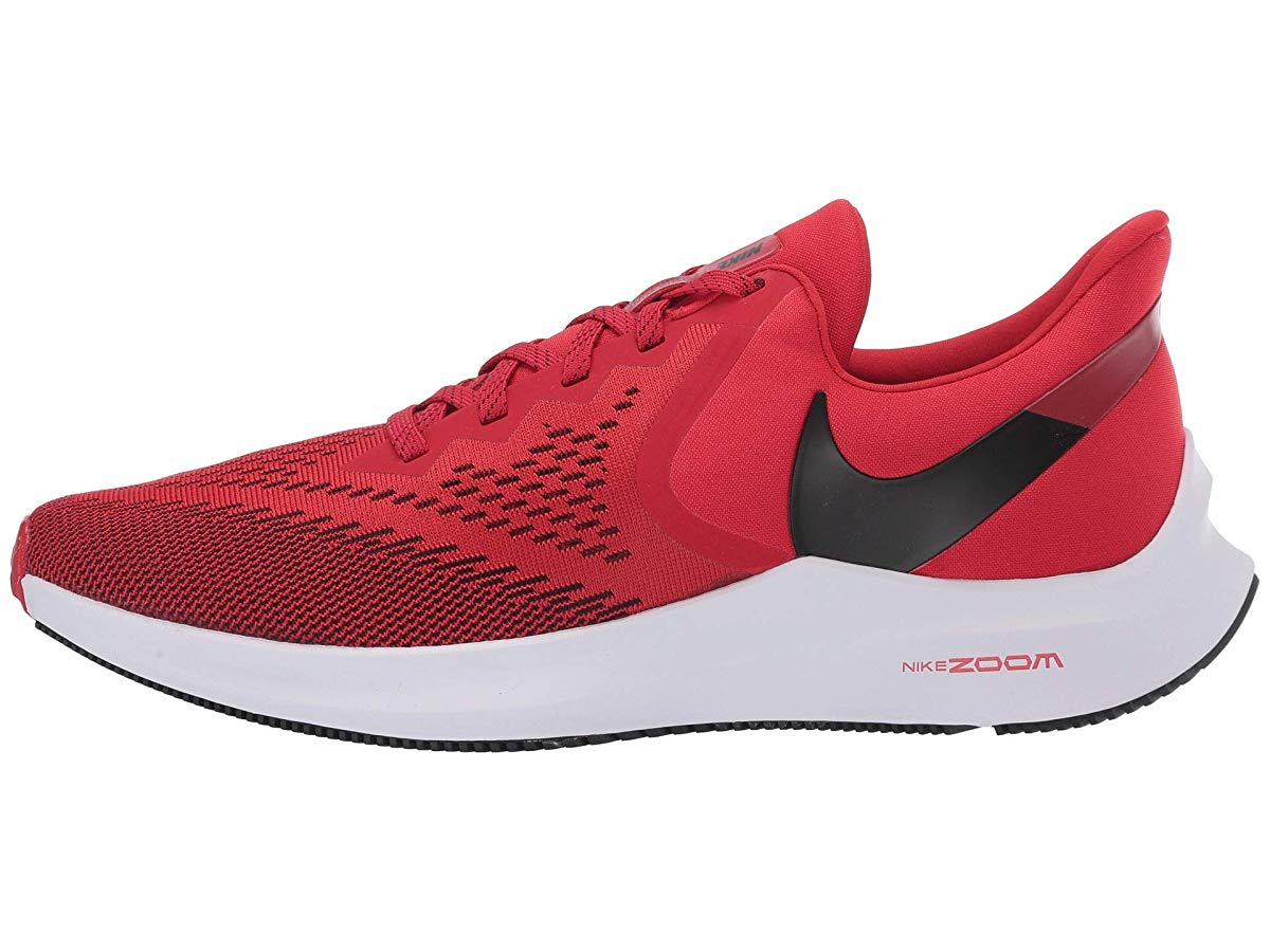 Nike Men's Zoom Winflo 6 Running Shoes (10M, Red/White)