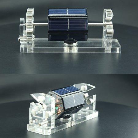 Creative Hexagon Solar Magnetic Levitation Horizontal Levitating Stand Educational Model Gift Motor - image 5 of 7