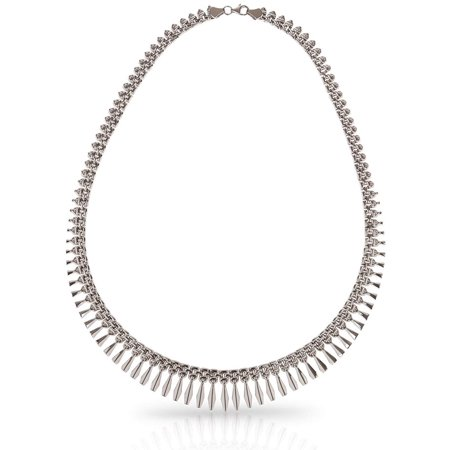 925 Sterling Silver Graduated Design Cleopatra Necklace