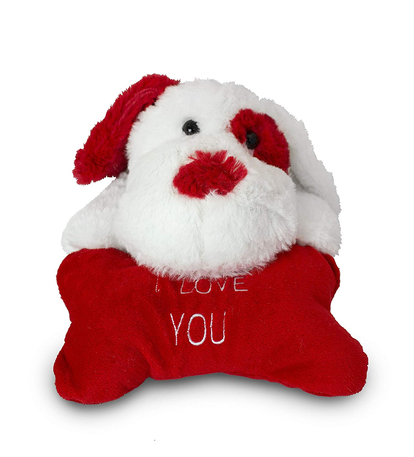 Plush Dog with Red 'I Love You' Bone by Beverly Hills Teddy Bear Co.