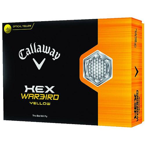 Callaway HEX Warbird Golf Balls, Yellow, 12-Pack