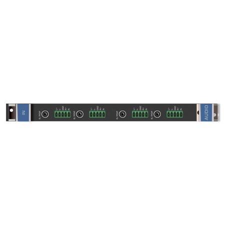 Kramer AAD-IN4-F32 4-Channel Analog & Digital Audio Input Card w/7-Yr Warranty