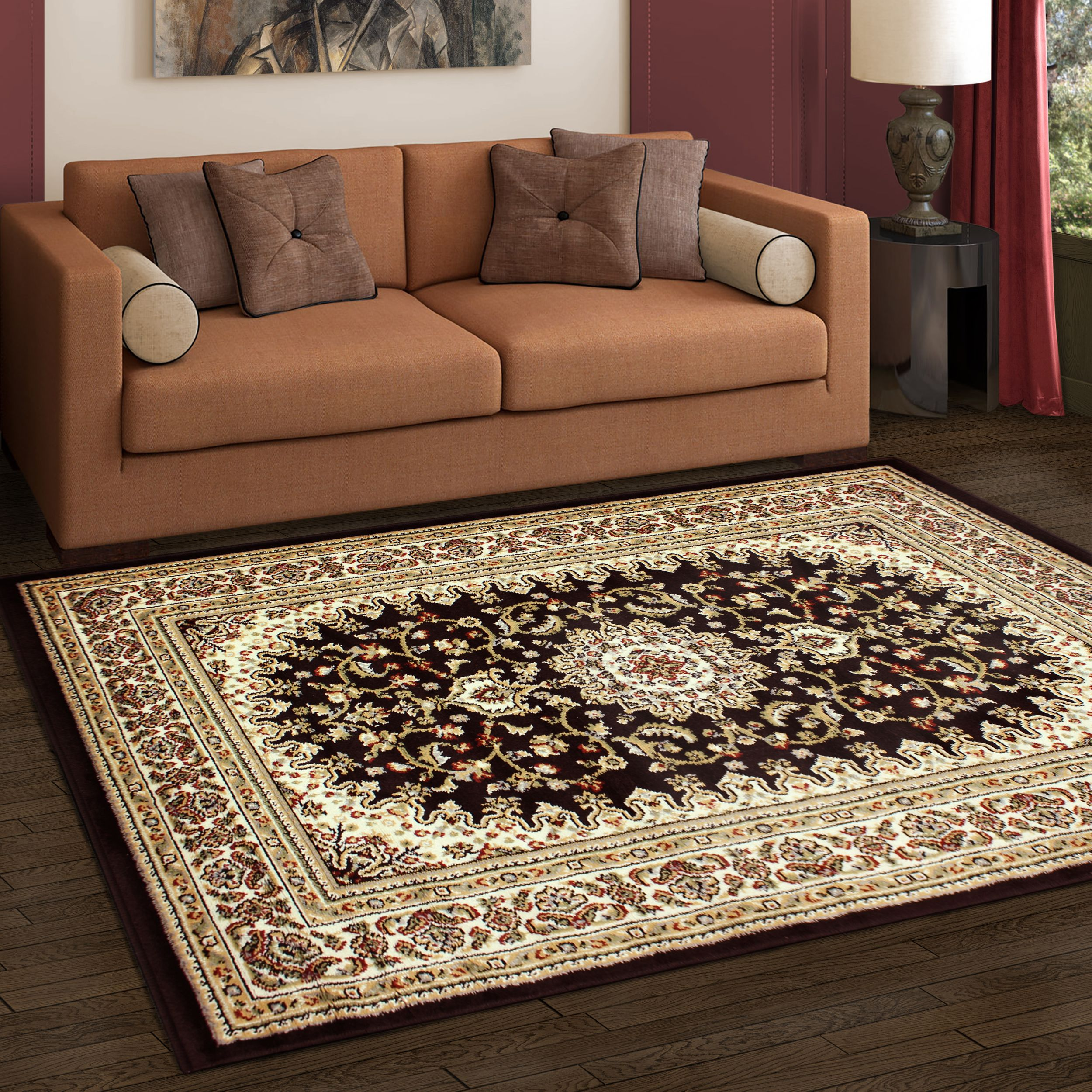 Superior Elegant Edinberg Collection with 8mm Pile and Jute Backing, Moisture Resistant and Anti-Static Indoor Area Rug