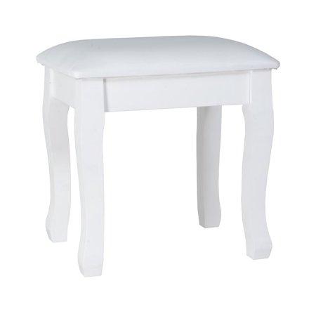 13 Vanity (Organizedlife Dressing Stool Vanity Makeup Stool with Cushion Piano Seat Soild Legs White 16.93 x 13 x 17.72 inches)