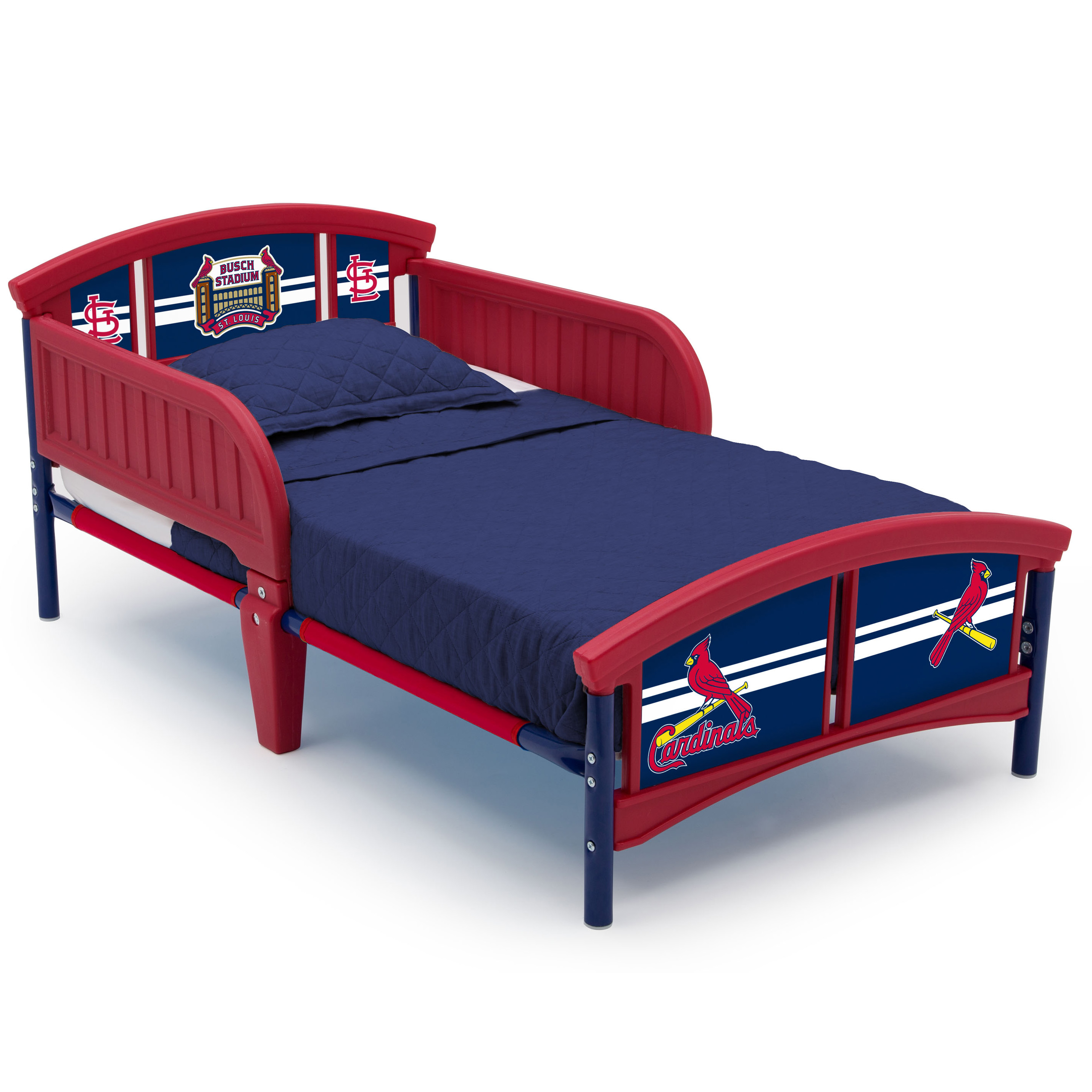 MLB St. Louis Cardinals Plastic Toddler Bed by Delta Children