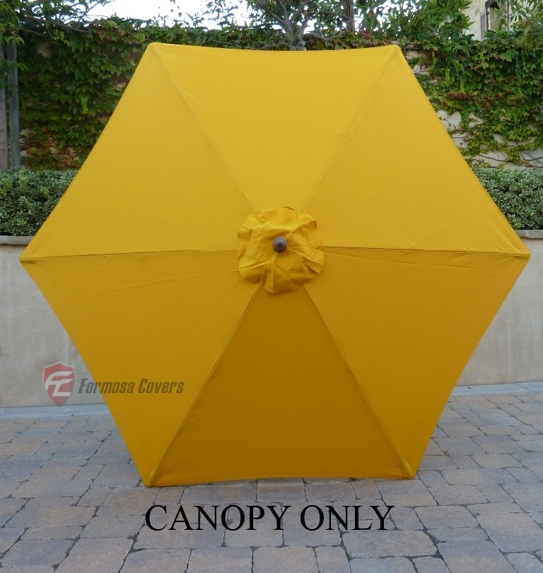 Formosa Covers 9ft Umbrella Replacement Canopy 6 Ribs in Yellow  (Canopy Only)