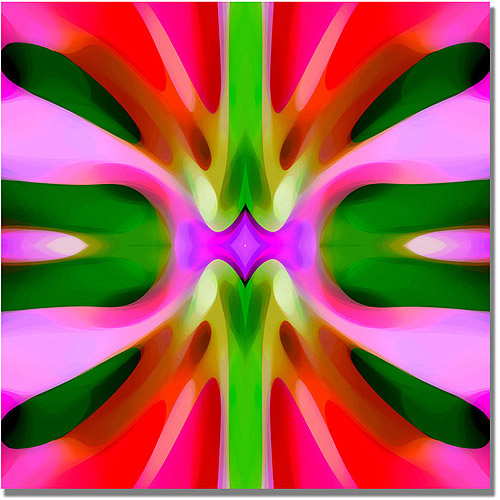"Trademark Fine Art ""Tree Light Symmetry Pink and Green"" Canvas Wall Art by Amy Vangsgard"