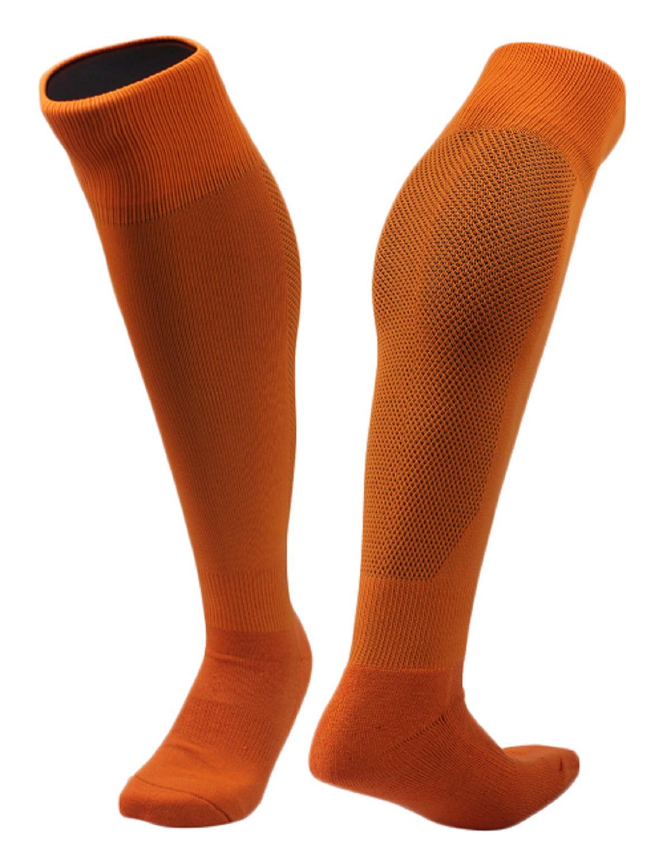 Lovely Annie Men's 1 Pair Knee High Sports Socks for Baseball/Soccer/Lacrosse 005 M(Red)