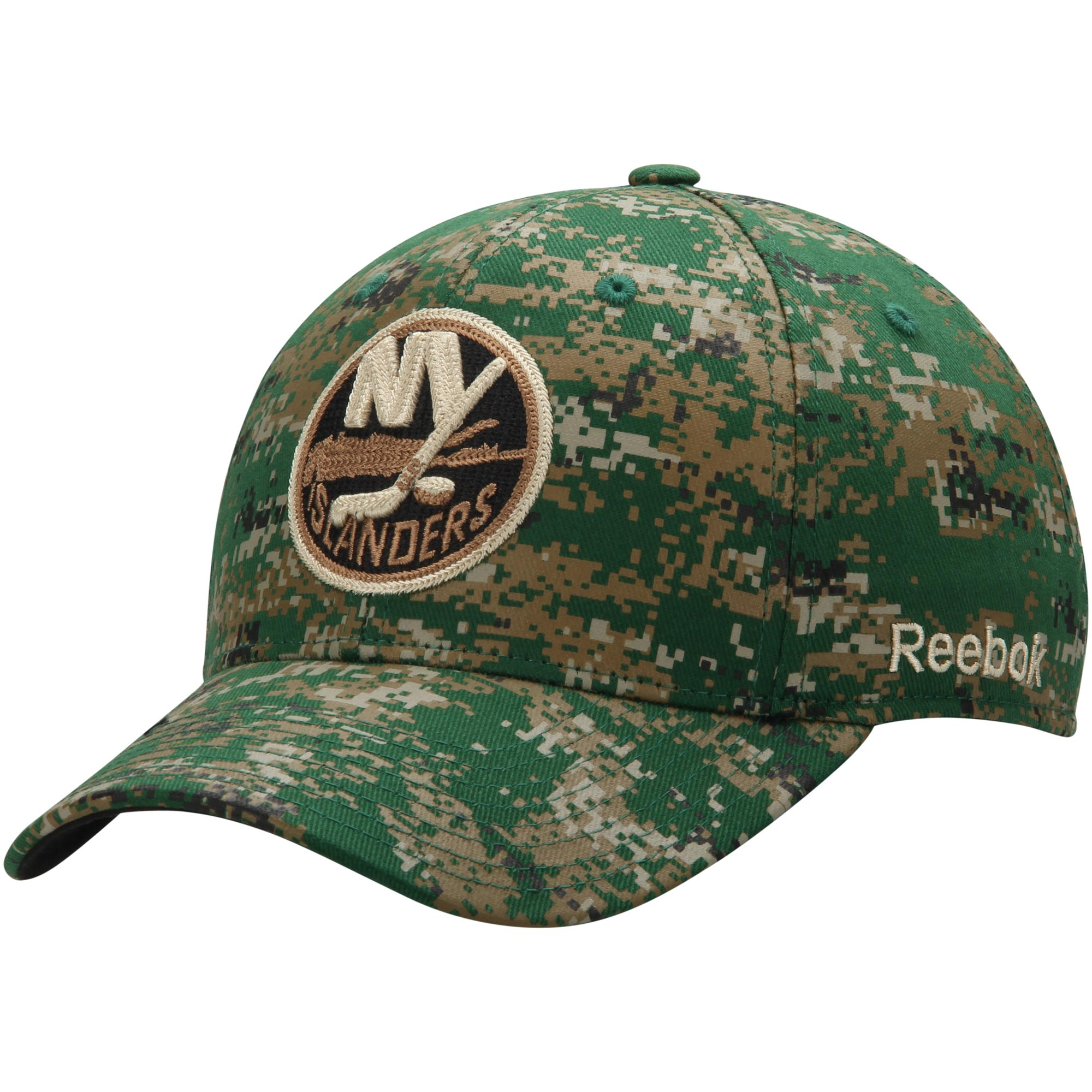 New York Islanders Reebok Structured Flex Hat - Digital Camo