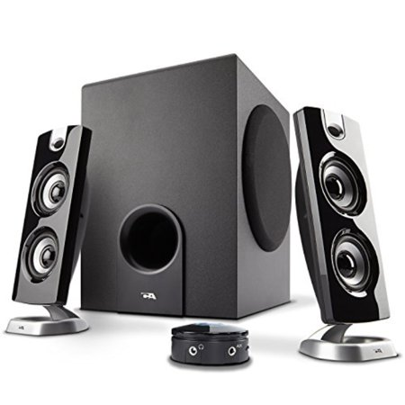 Cyber Acoustics CA-3602FFP 2.1 Speaker Sound System with Subwoofer and Control Pod - Great for Music, Movies, Multimedia