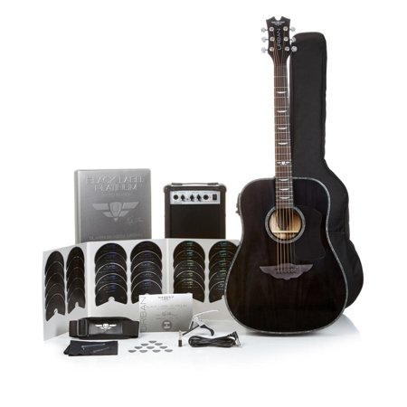 Keith Urban Acoustic Electric Guitar Black Label Platinum 50-Piece, Black Onyx Right-Handed ()