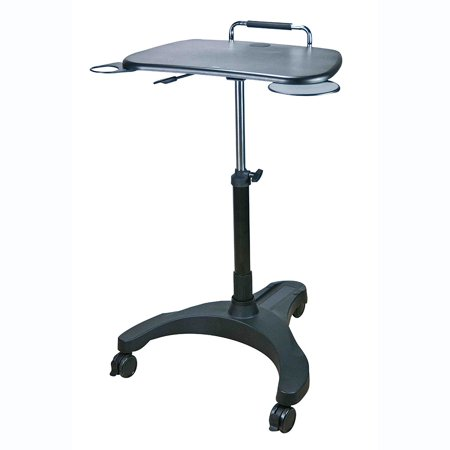 Aidata LPD008P Popdesk Deluxe Mobile Workstation Notebook Cart, Black Mobile Workstation Cart