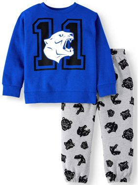 Garanimals Toddler Boys Graphic Sweatshirt and Sweatpants, 2pc Outfit Set