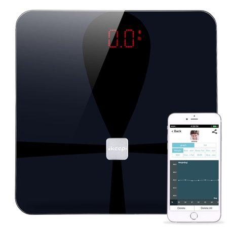 Body Fat Scale,  Smart Wireless Digital Bathroom Weight Scale Body Composition Analyzer Health Monitor with iOS & Android APP for Body Weight, Fat, Water, BMI, BMR, Muscle (Best Sound Analyzer App Android)