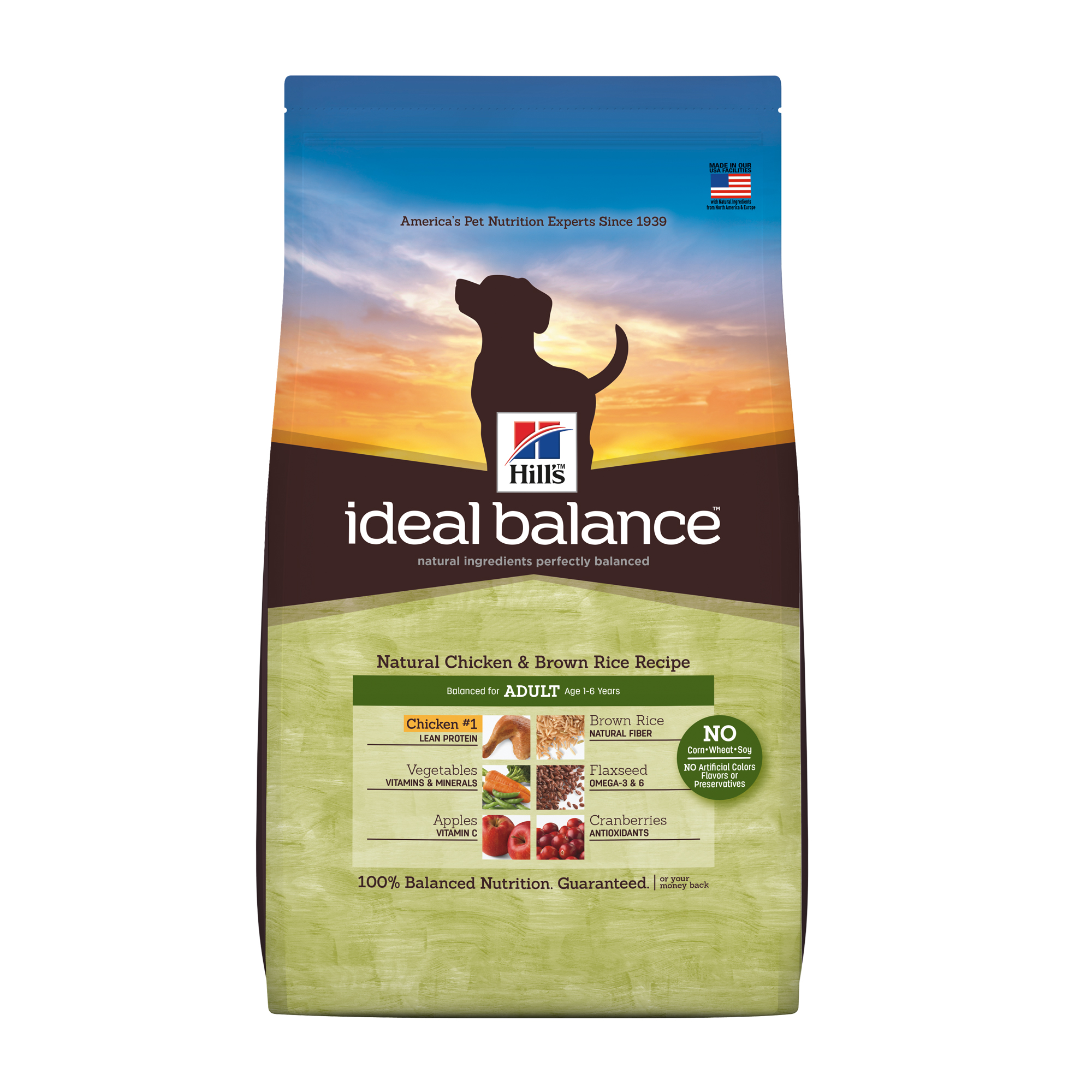 Ideal Balance Dog Food >> Hill S Ideal Balance Adult Natural Chicken Brown Rice Recipe Dry