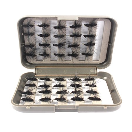 - 40Pcs Life-like Fly Fishing Lure With Feather Fishing Baits+Single Hook With Box