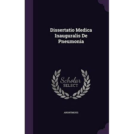 Dissertatio Medica Inauguralis De Pneumonia