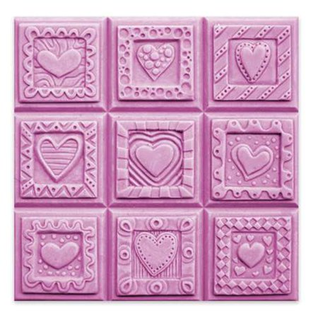 Molded Cargo Area Tray - Milky Way Clear PVC Crazy Hearts Soap Mold Tray - Makes 4 oz Bars. Melt & Pour, Cold Process
