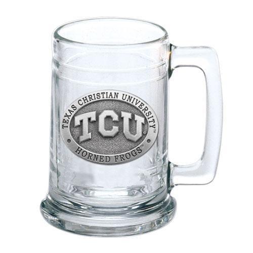 Texas Christian University Glass Beer Stein