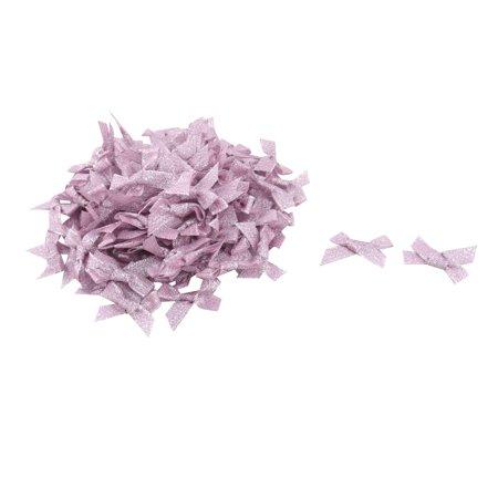 Birthday Polyester Clothes Dress Scarf Decor Bowknot Bow Light Purple 100 Pcs - image 1 de 3