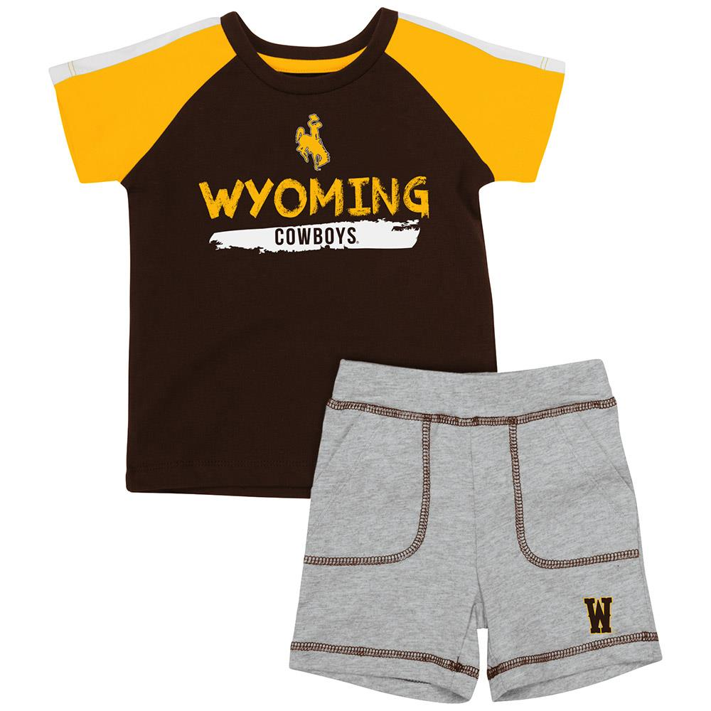 Infant Wyoming Cowboys Tee Shirt and Shorts Set - 3 to 6 Months
