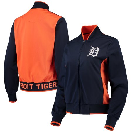Detroit Tigers G-III 4Her by Carl Banks Women's Triple Track Jacket - Navy/Orange