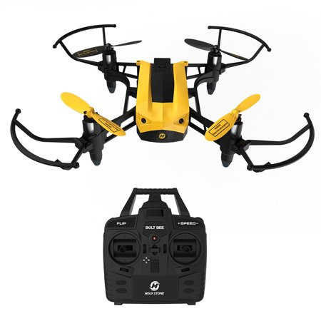 Holy Stone HS150 Bolt Bee Mini Racing Drone RC Quadcopter RTF 2.4GHz 6-Axis Gyro with 50KMH High Speed Headless Mode Wind Resistance Includes Bonus