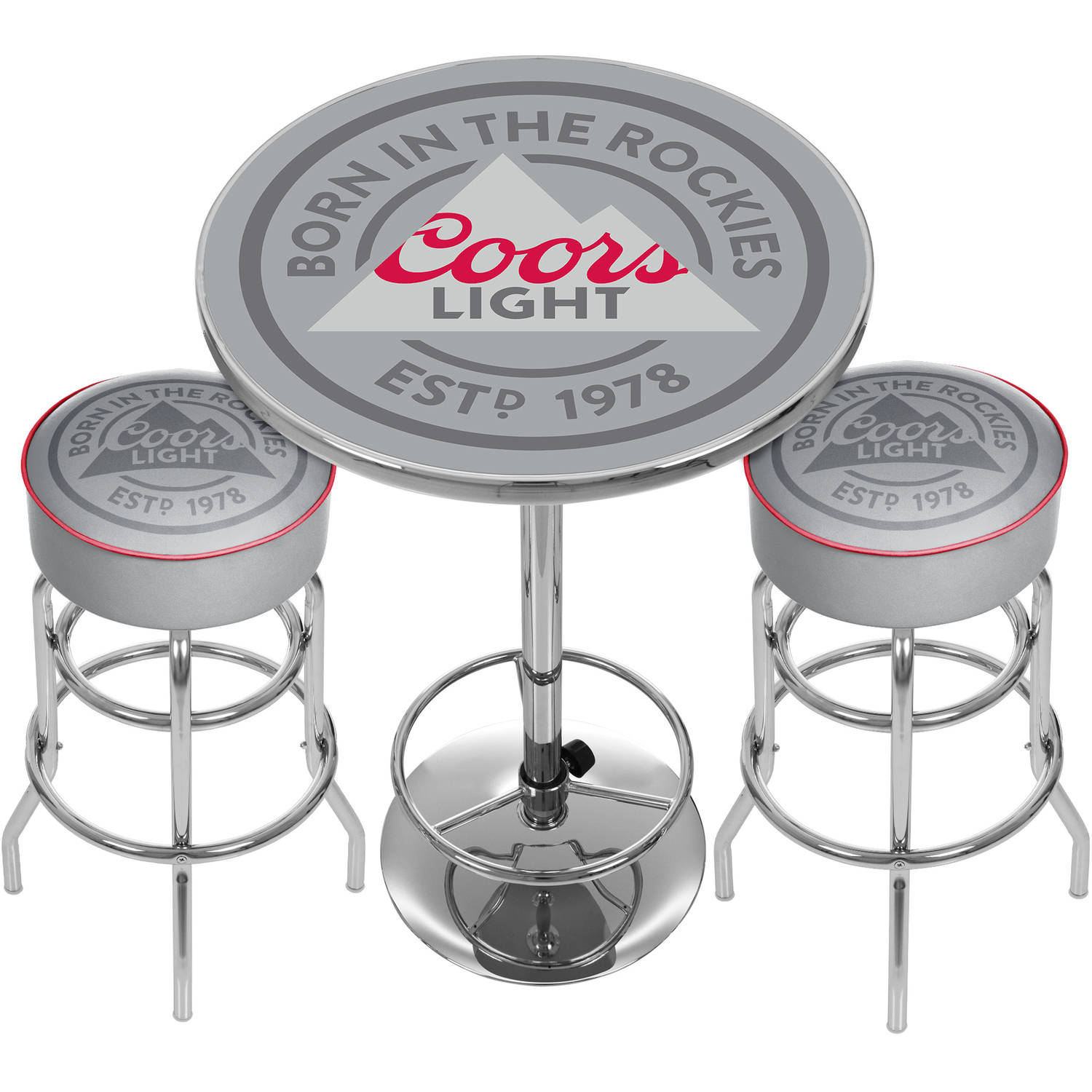 Coors Light Game Room Combo 2 Bar Stools And Table