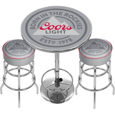 Coors Light Game Room Combo, 2 Bar Stools and Table