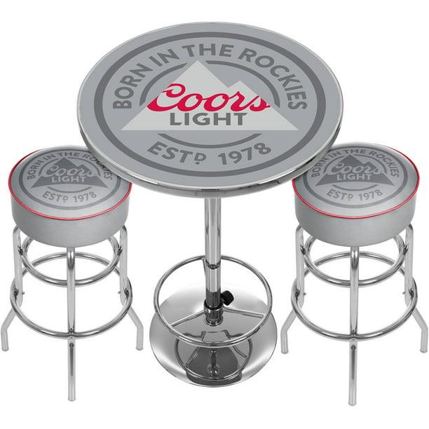 Coors Light Game Room Combo, 2 Bar Stools and Table - Walmart.com