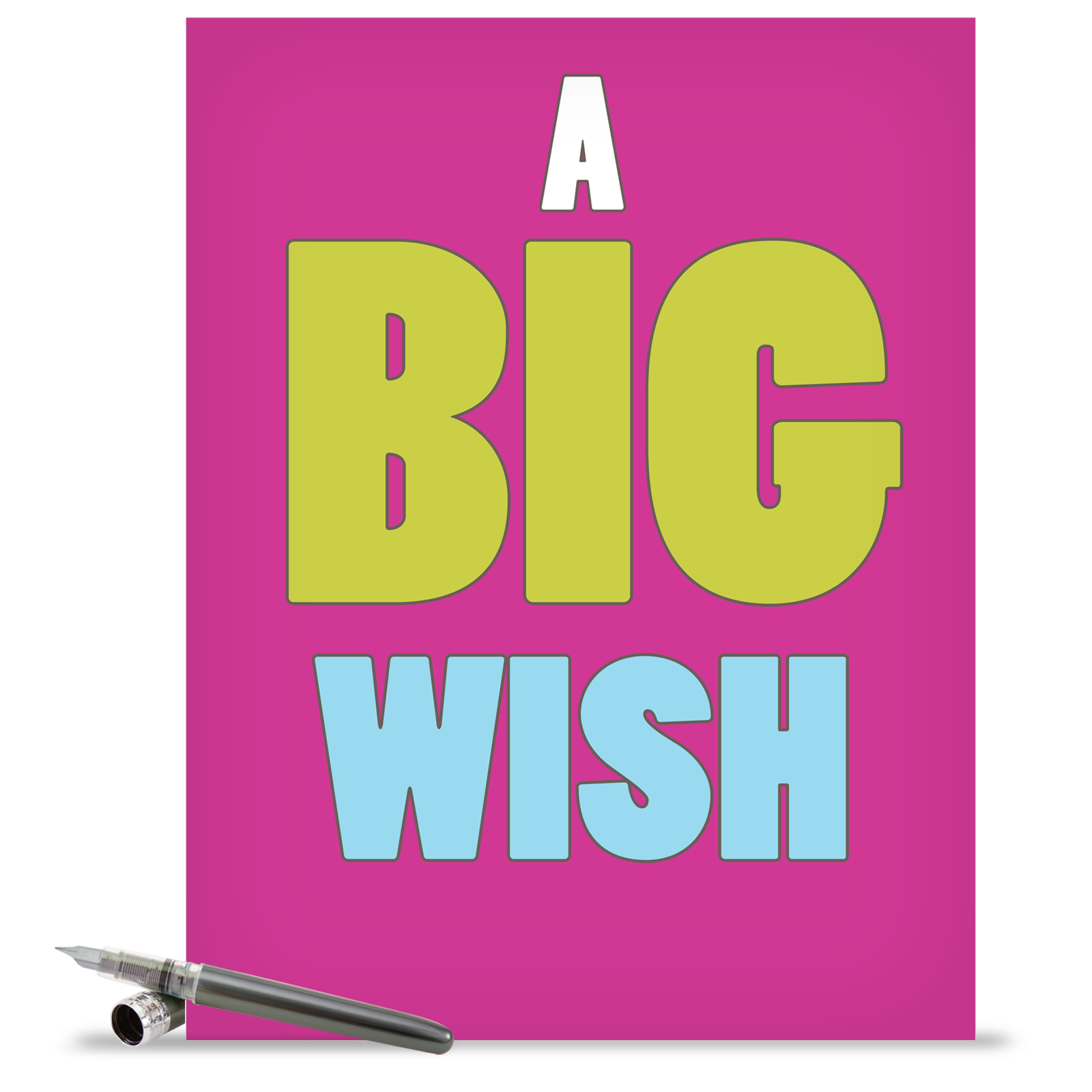 J1420k Jumbo Hilarious All Occasions Greeting Card A Big Wish
