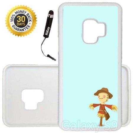 Custom Galaxy S9 Case (Cute Scarecrow) Edge-to-Edge Rubber White Cover Ultra Slim | Lightweight | Includes Stylus Pen by Innosub - Cute Scarecrow