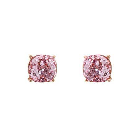b5137f3d4 Humble Chic NY - Faceted Square Glitter Stud Earrings Cushion Cut Statement  Post Ear Studs .55