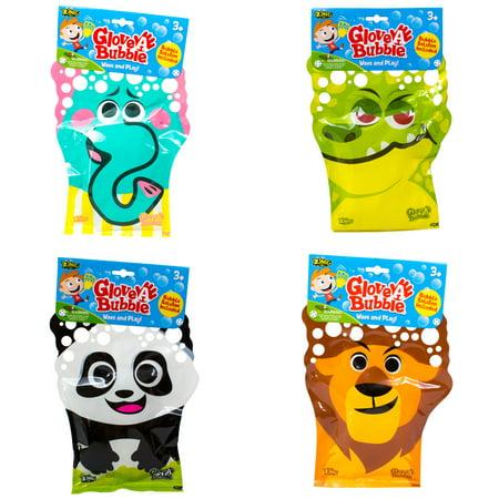 4 x Glove - A- Bubbles: 1 Elephant, 1 Lion,1 Panda, 1 Alligator