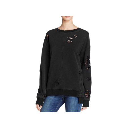 Joe's Jeans Womens Lyndon Destroyed Side Zip Sweatshirt