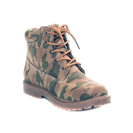 Soho Shoes Men's Camo Combat Army Boots Military Lace Up