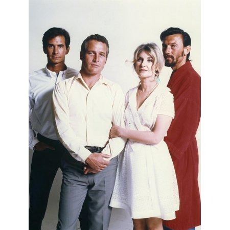 Paul Harvest (Anthony Perkins, Paul Newman, Joanne Woodward and Laurence Harvey. WUSA, 1970 directed by STUART RO Print Wall Art )