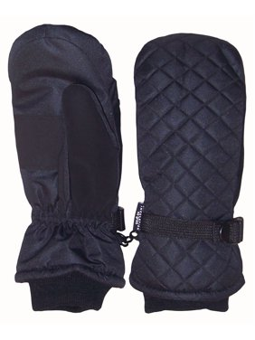 NICE CAPS Kids Unisex Waterproof and Thinsulate Insulated Quilted Ski Snow Winter Mittens - Fits Toddler Boys Girls Youth Little Child Children Sizes For Cold Weather