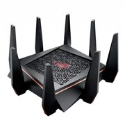 ASUS ROG Rapture AC5300 Tri-band WiFi Gaming Router, 8 Gigabit LAN Port, game acceleration, Mesh WiFi support, Lifetime Free Internet Security, DFS, Gamer Private Network