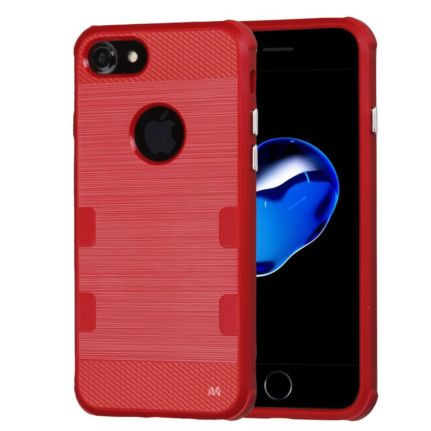 Insten Tuff Rubber TPU Case Cover for Apple iPhone 7, Red