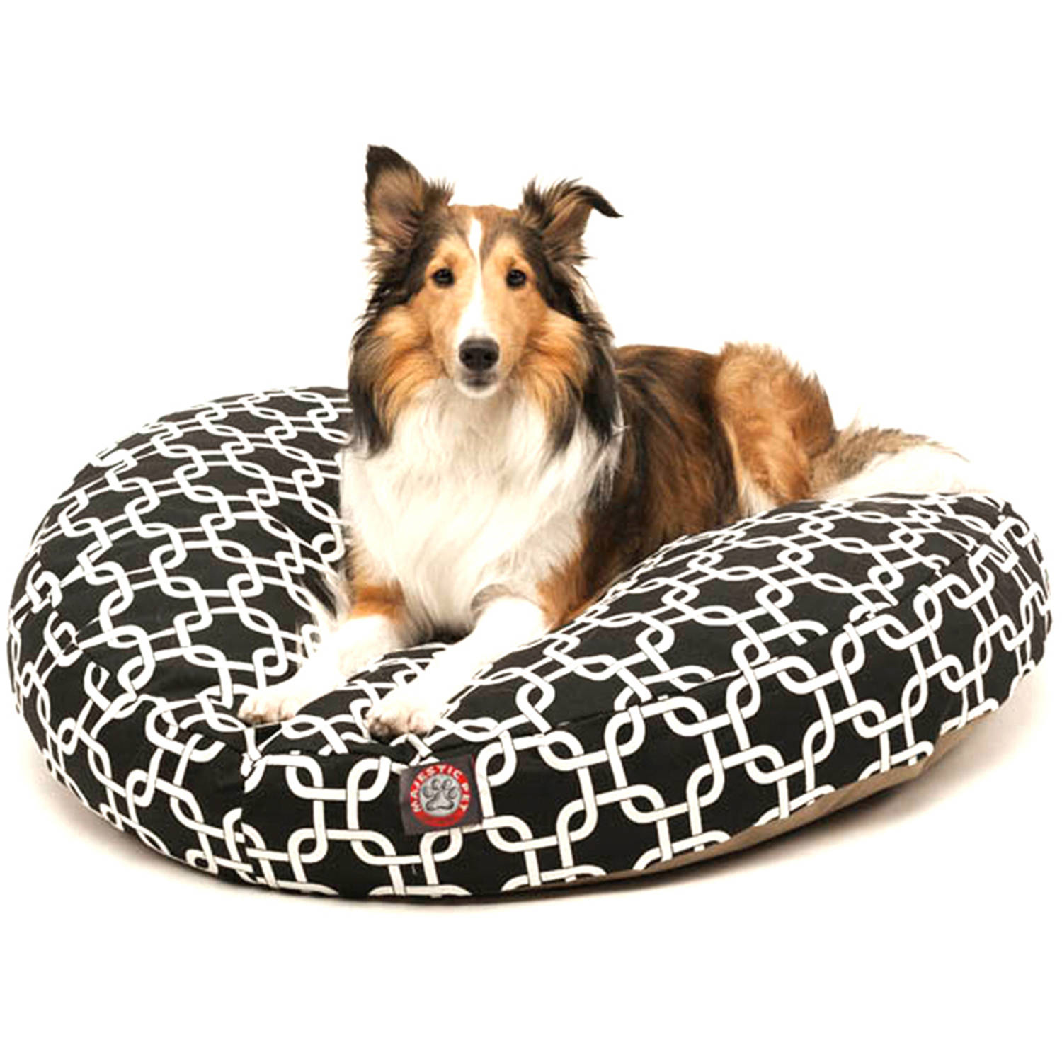 Majestic Pet Links Large Round Outdoor Indoor Pet Bed Removable Cover