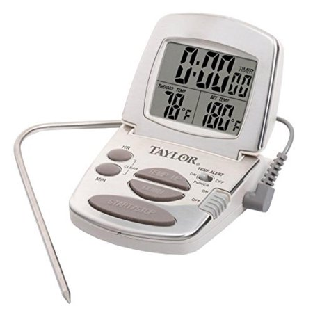 Taylor Precision Products Digital Cooking Thermometer with Probe and Timer