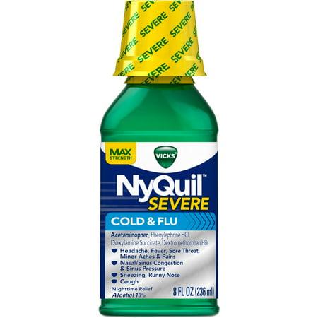 Vicks NyQuil Original Flavor sévère liquide froid et la grippe, 8 fl oz