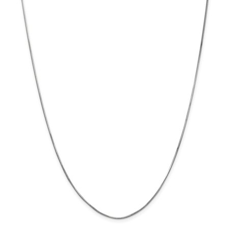 9mm Snake Chain - Solid 14K White Gold .9 mm Diamond-Cut Octagonal Snake Chain Necklace 16
